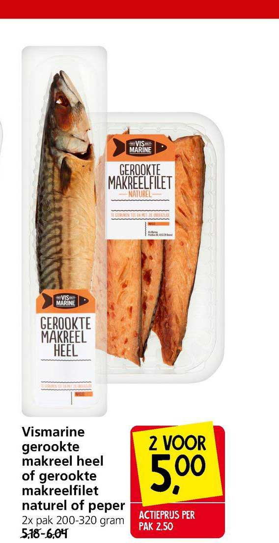 Jan Linders Vismarine Gerookte Makreel Heel Of Gerookte Makreelfilet Naturel Of Peper