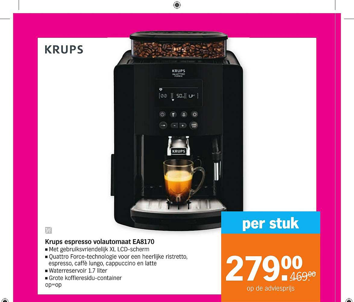Albert Heijn Krups Espresso Volautomaat EA8170