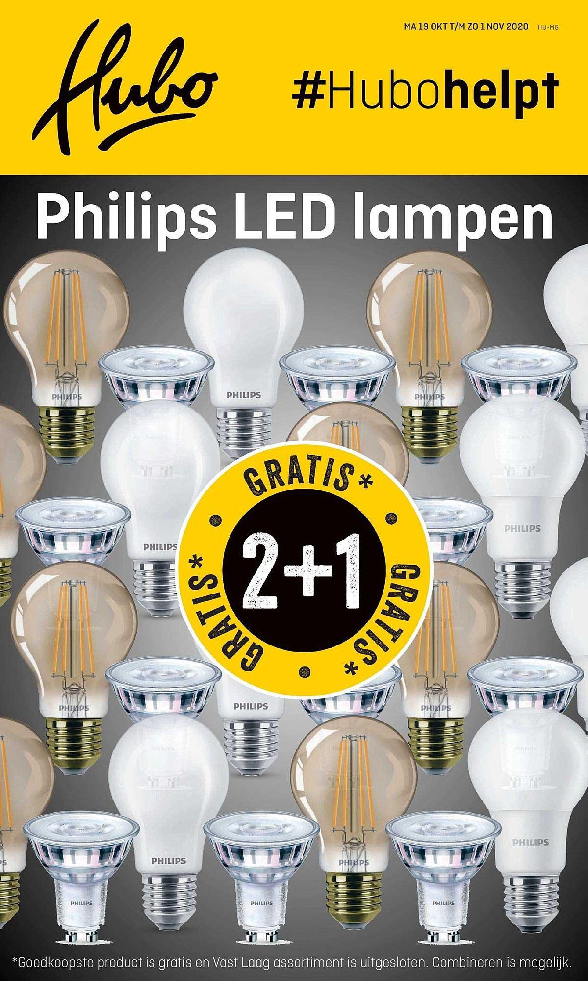 Hubo Philips Led Lampen: 2+1 Gratis