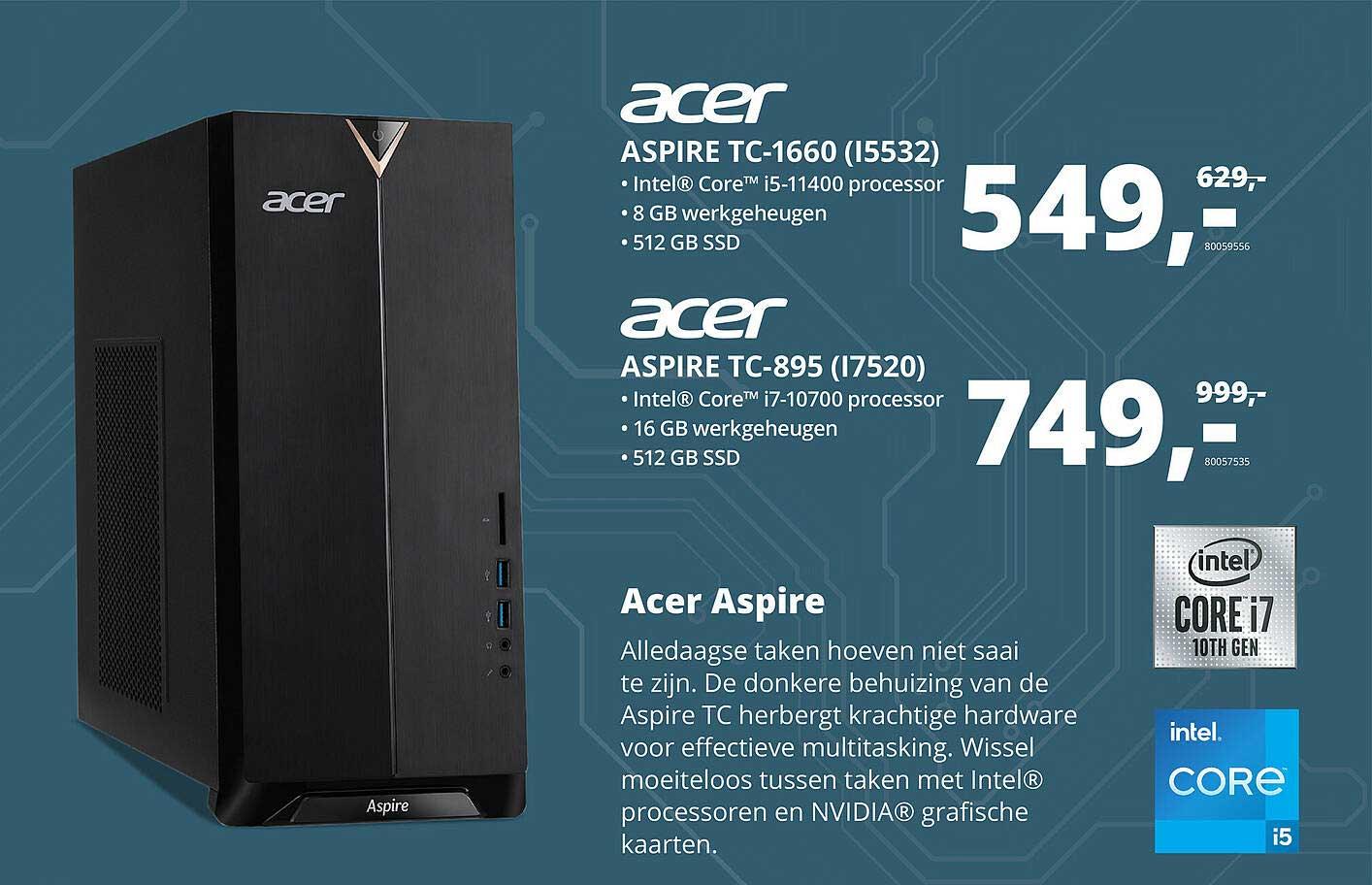 Paradigit Acer Aspire TC-1660 (I5532) Of Acer Aspire TC-895 (I7520) Desktop