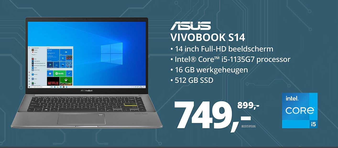 Paradigit Asus Vivobook S14 Laptop