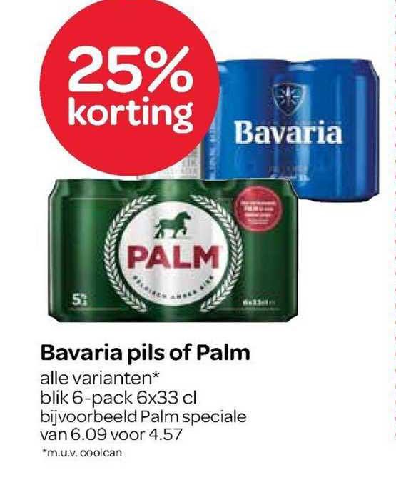 Spar Bavaria Pils Of Palm 25% Korting