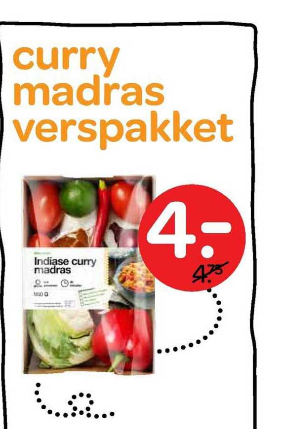 Spar Curry Madras Verspakket