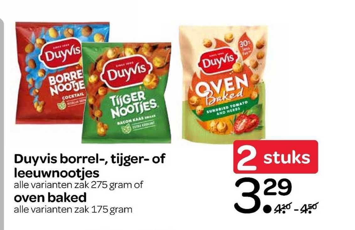 Spar Duyvis Borrel-, Tijger- Of Leeuwnootjes Of Oven Baked
