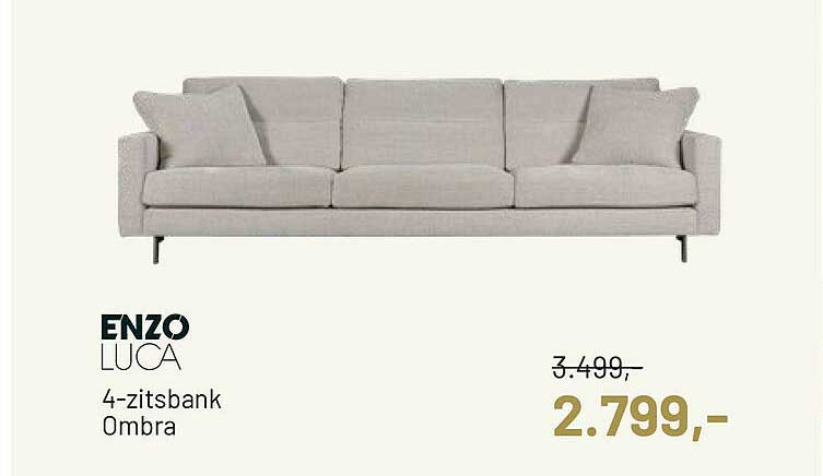 Piet Klerkx Enzo Luca 4-Zitsbank Ombra