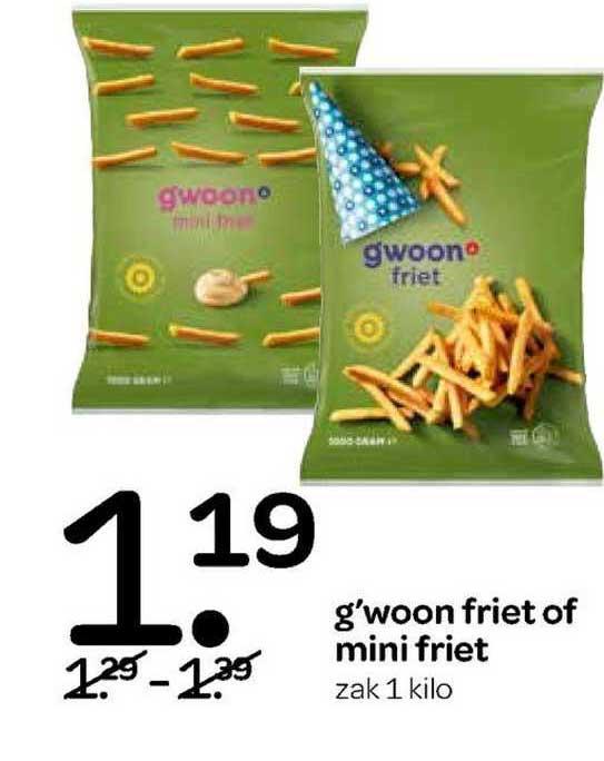 Spar G'woon Friet Of Mini Friet