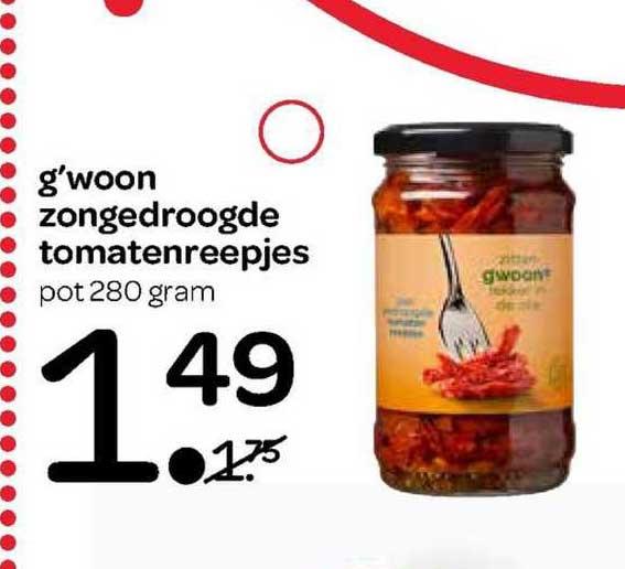 Spar G'woon Zongedroogde Tomatenreepjes