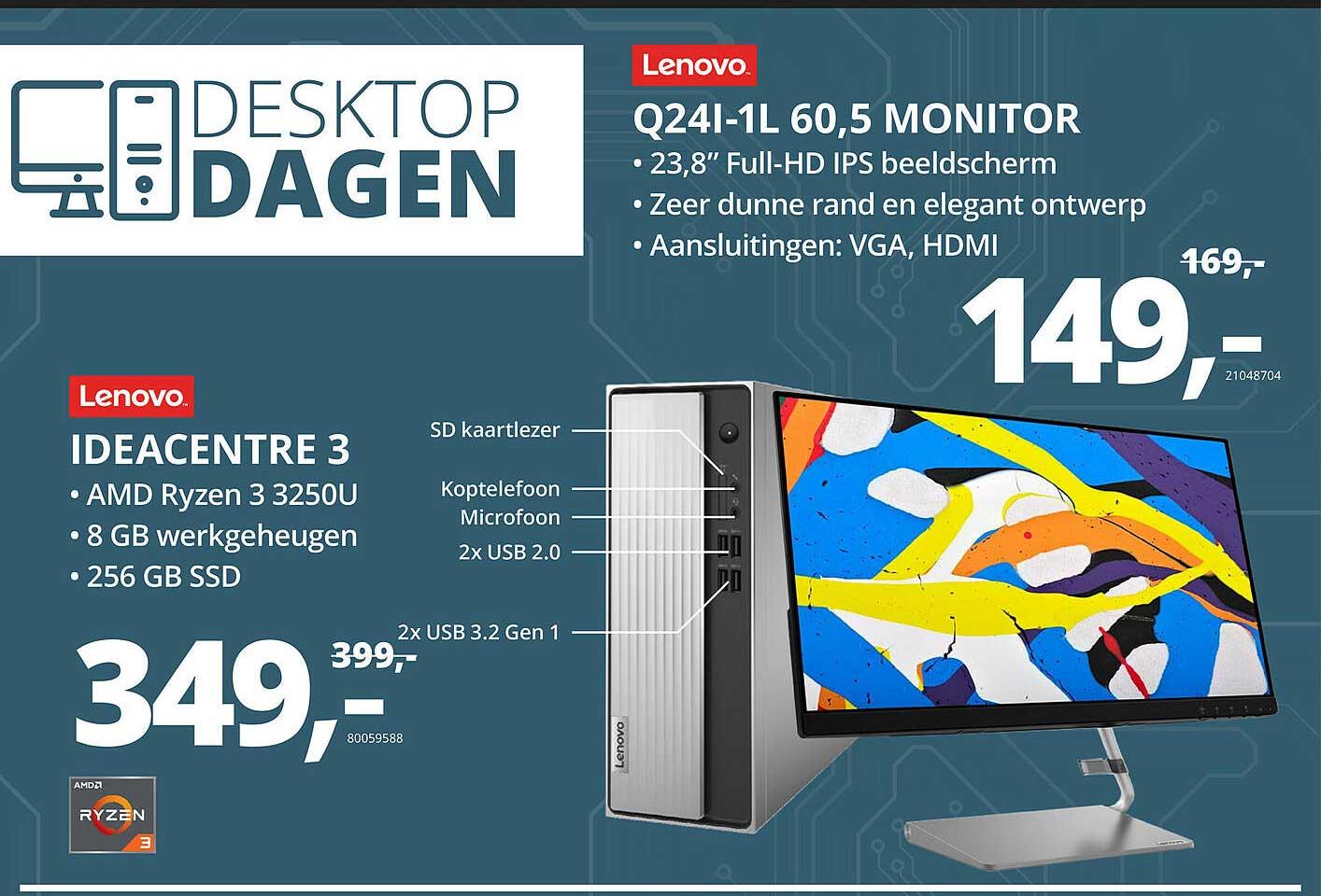 Paradigit Lenovo Ideacentre 3 Of Lenovo Q24I-1L 60,5 Monitor