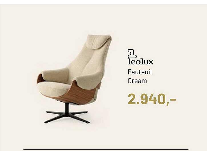 Piet Klerkx Leolux Fauteuil Cream