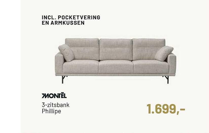 Piet Klerkx Montel 3-Zitsbank Phillipe