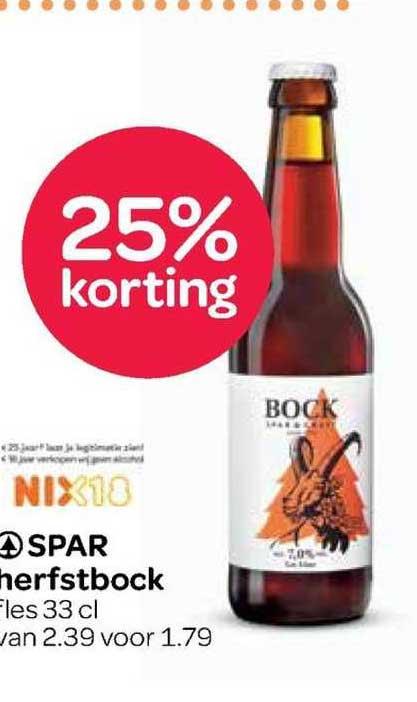 Spar Spar Herfstbock 25% Korting