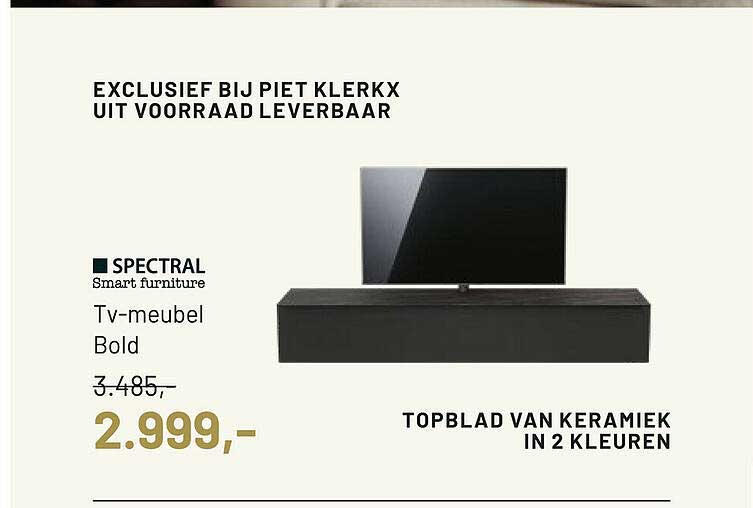 Piet Klerkx Spectral Smart Furniture TV-Meubel Bold