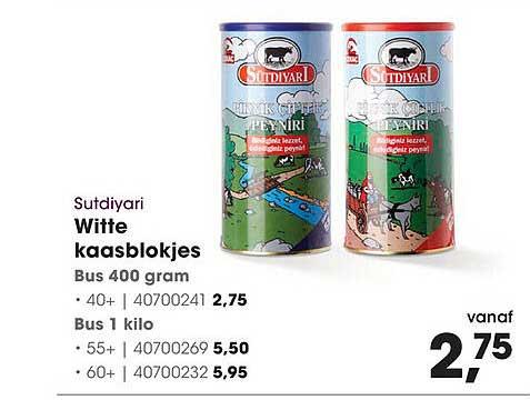HANOS Sutdiyari Witte Kaasblokjes 40+, 55+ Of 60+