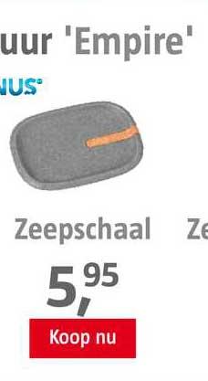 BAUHAUS Zeepschaal
