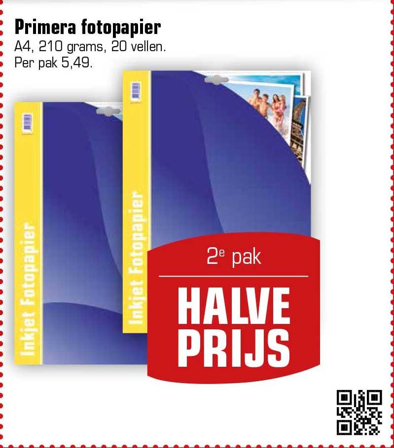 Primera Primera Fotopapier: 2e Pak Halve Prijs