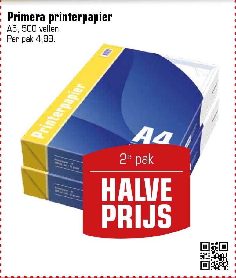 Primera Primera Printerpapier: 2e Pak Halve Prijs
