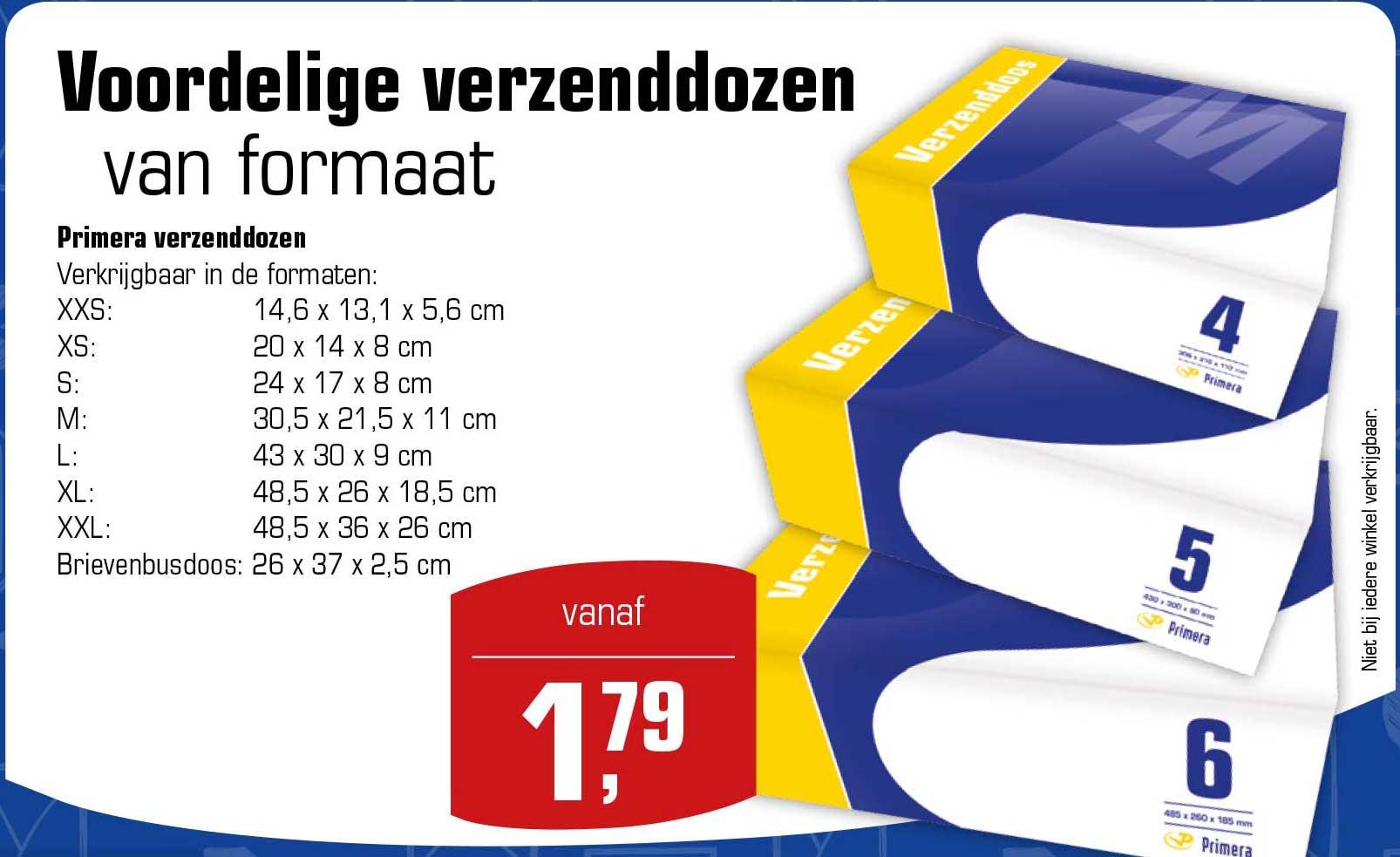 Primera Voordelige Verzenddozen: Vanaf €1,79