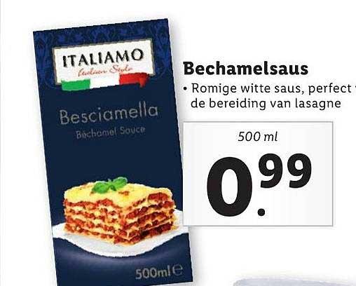 Lidl Bechamelsaus