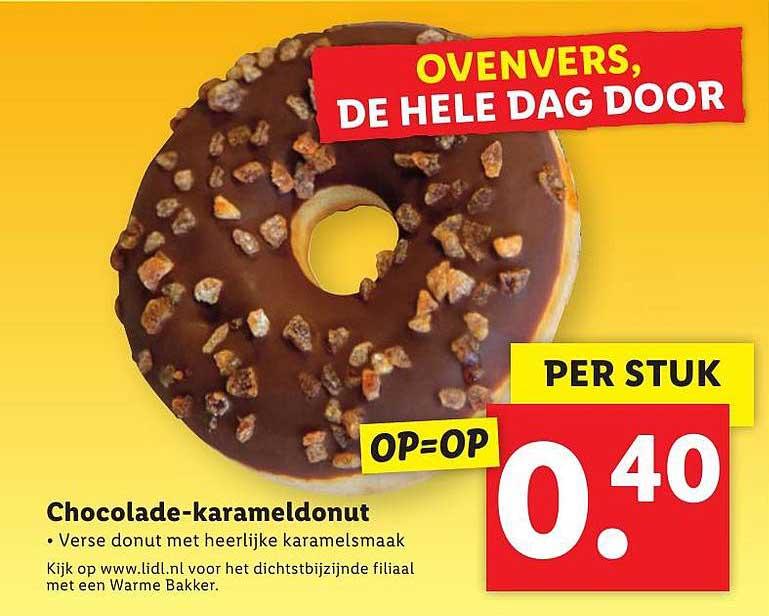Lidl Chocolade-Karameldonut