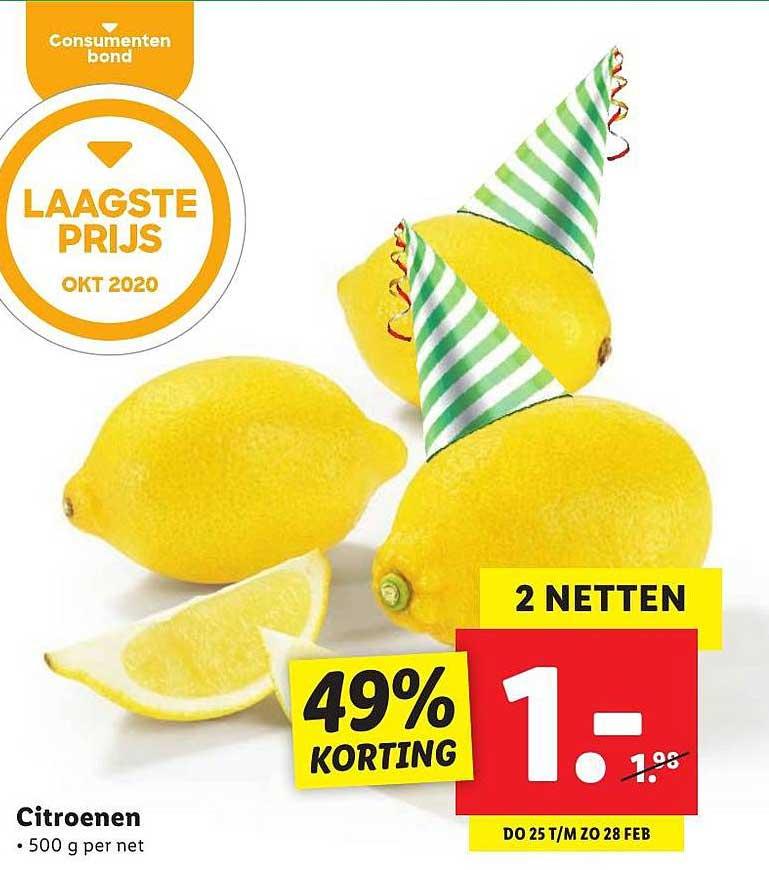 Lidl Citroenen 49% Korting