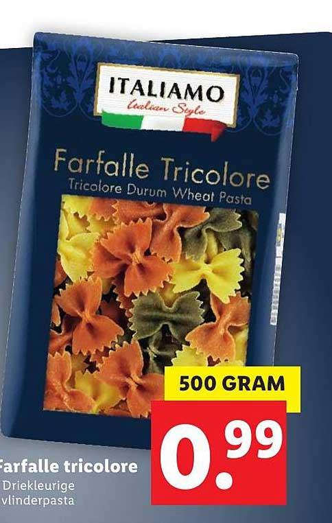 Lidl Farfalle Tricolore