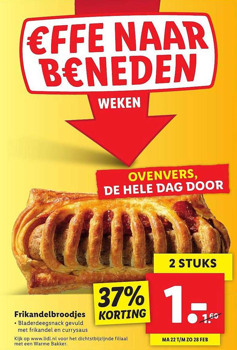 Lidl Frikandelbroodjes 37% Korting