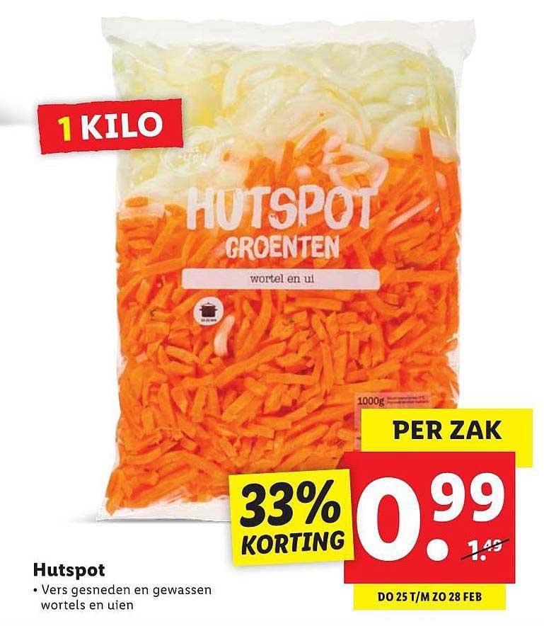 Lidl Hutspot 33% Korting