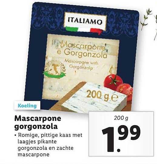 Lidl Mascarpone Gorgonzola