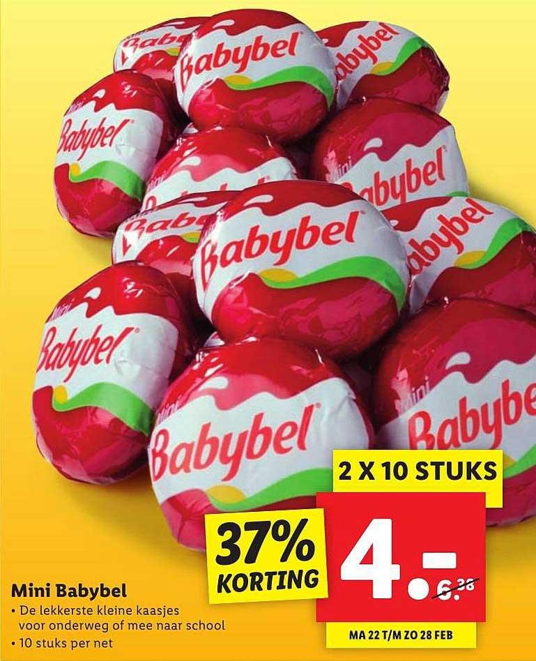 Lidl Mini Babybel 37% Korting