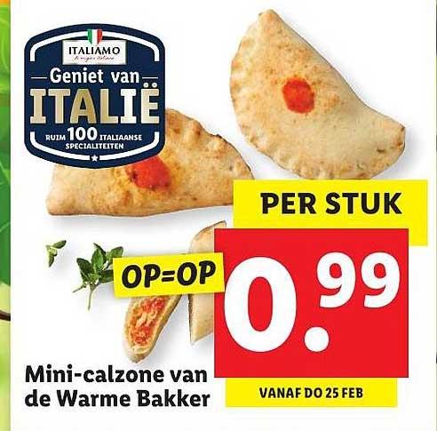 Lidl Mini-Calzone Van De Warme Bakker