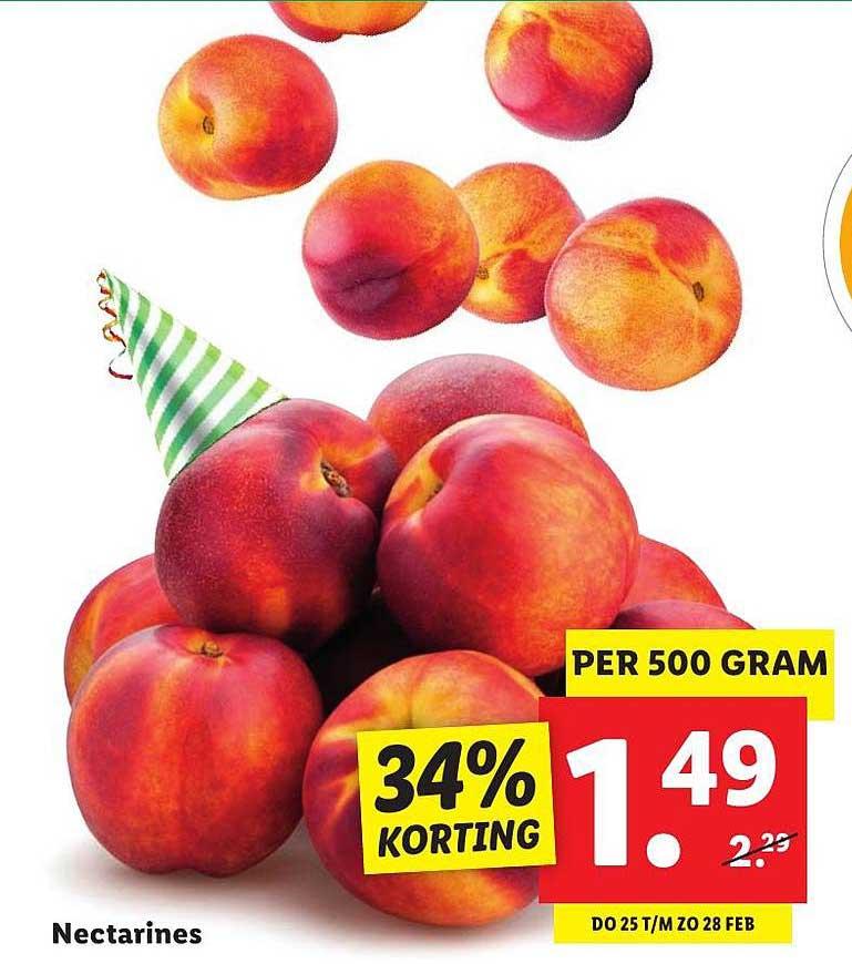 Lidl Nectarines 34% Korting