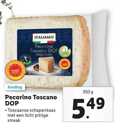 Lidl Pecorino Toscano DOP