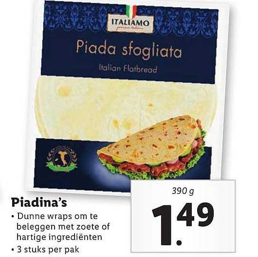 Lidl Piadina's
