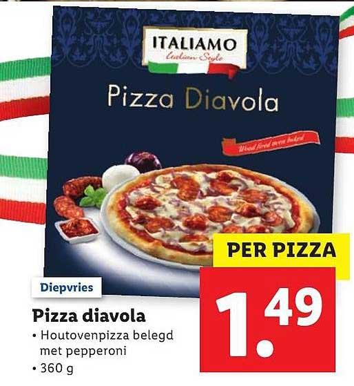 Lidl Pizza Diavola