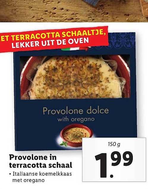 Lidl Provolone In Terracotta Schaal