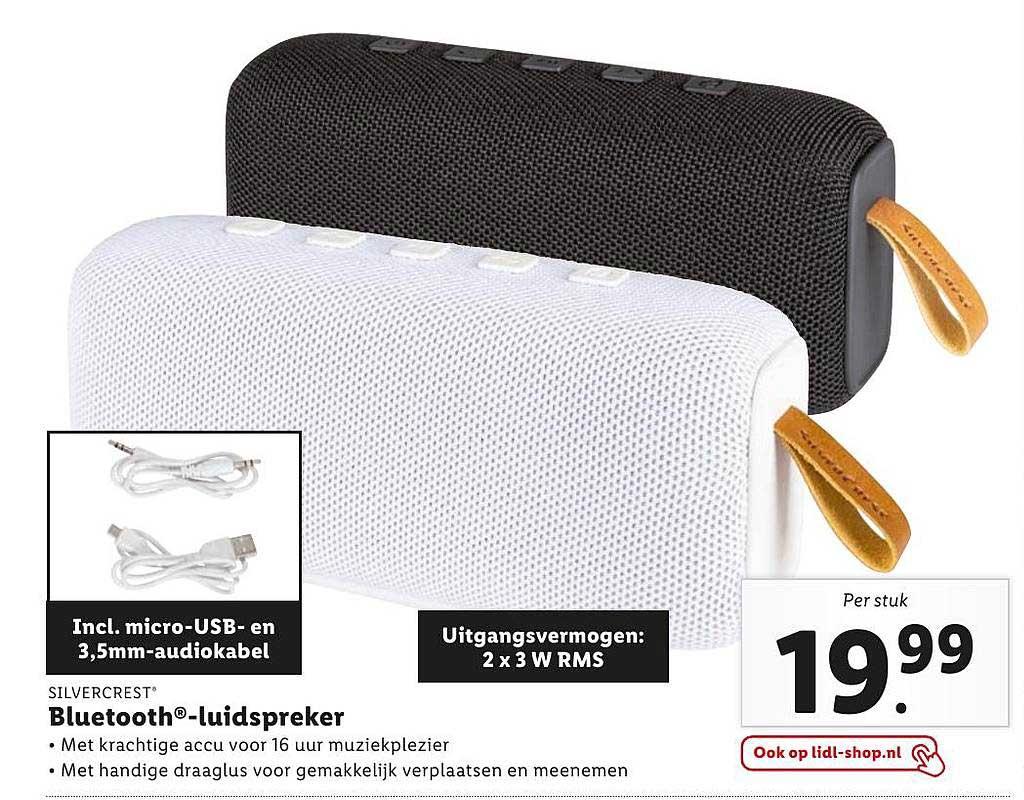 Lidl Silvercrest Bluetooth-Luispreker