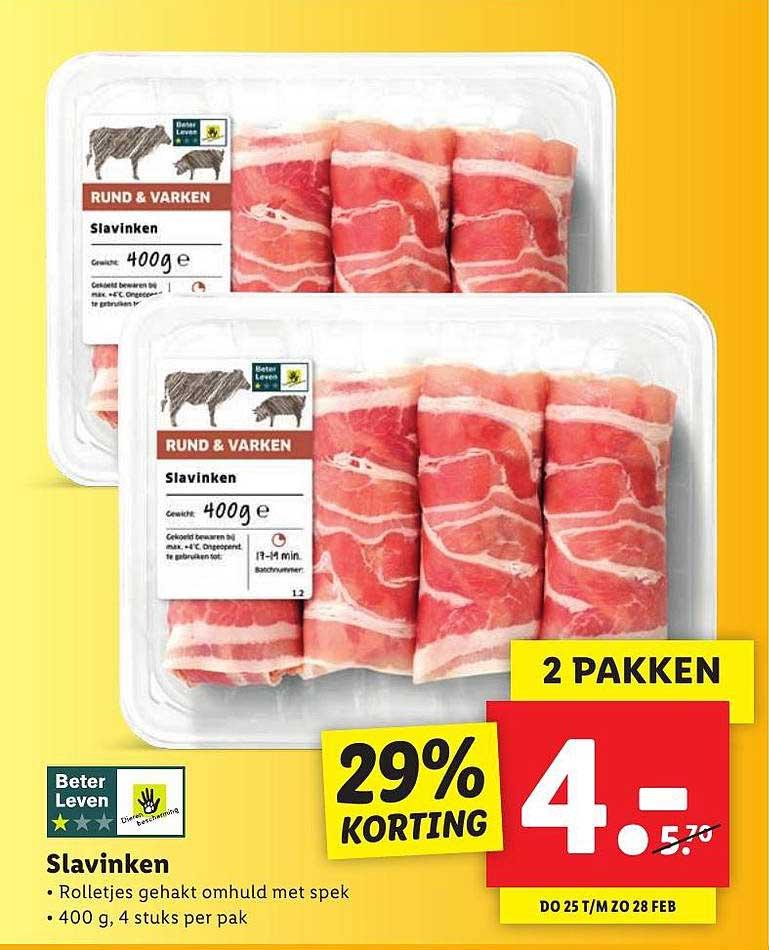 Lidl Slavinken 29% Korting