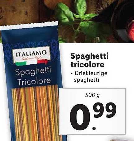 Lidl Spaghetti Tricolore