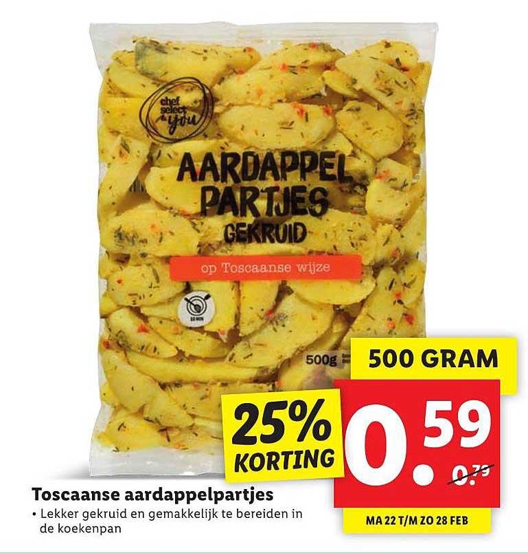 Lidl Toscaanse Aardappelpartjes 25% Korting