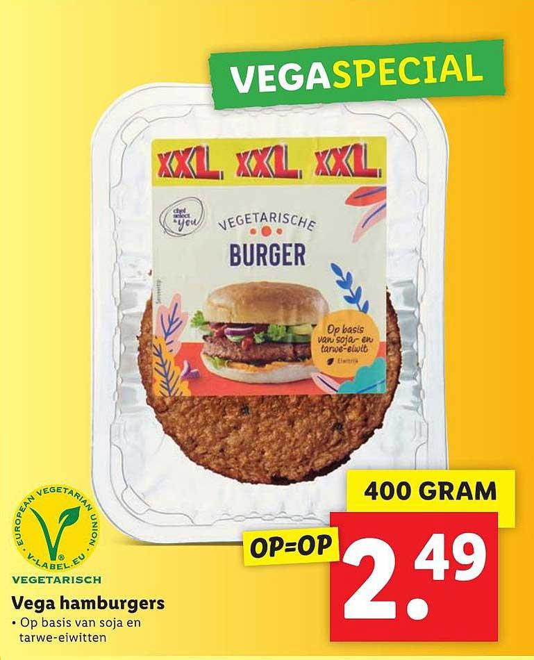 Lidl Vega Hamburgers