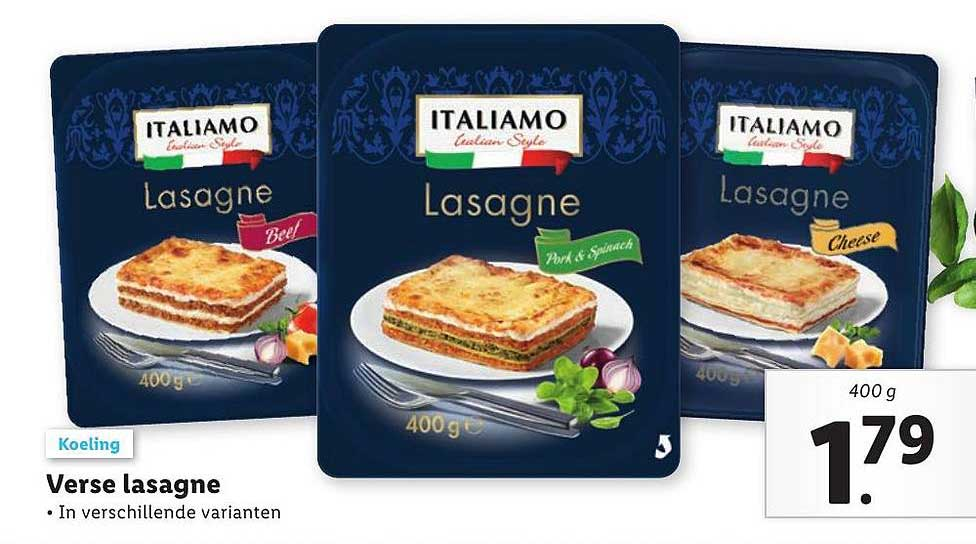 Lidl Verse Lasagne