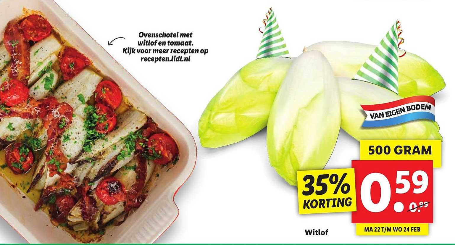 Lidl Witlof 35% Korting
