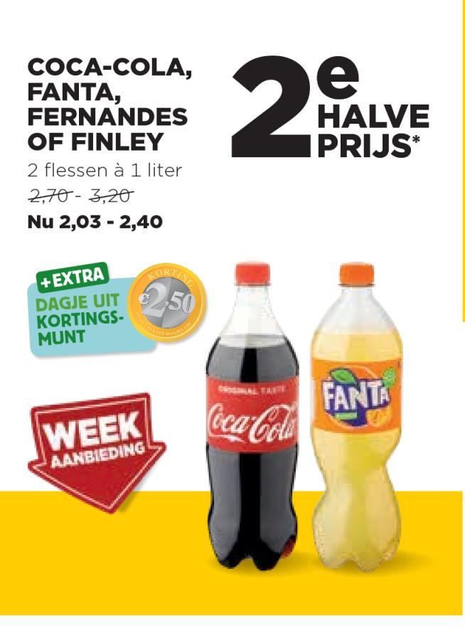 Jumbo Coca Cola, Fanta, Fernandes Of Finley: 2e Halve Prijs