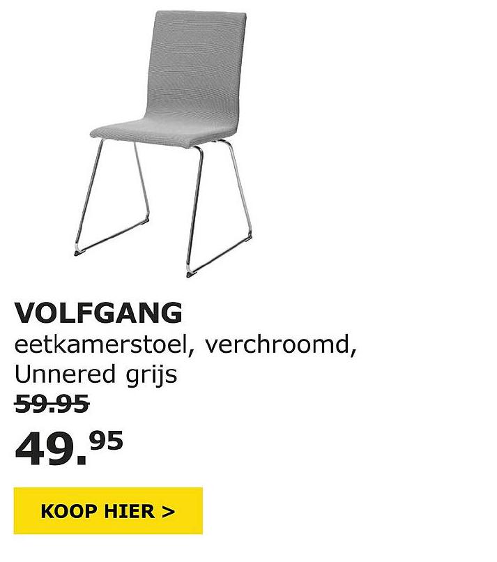 Eetkamer Stoel Ikea.Volfgang Eetkamerstoel Aanbieding Bij Ikea