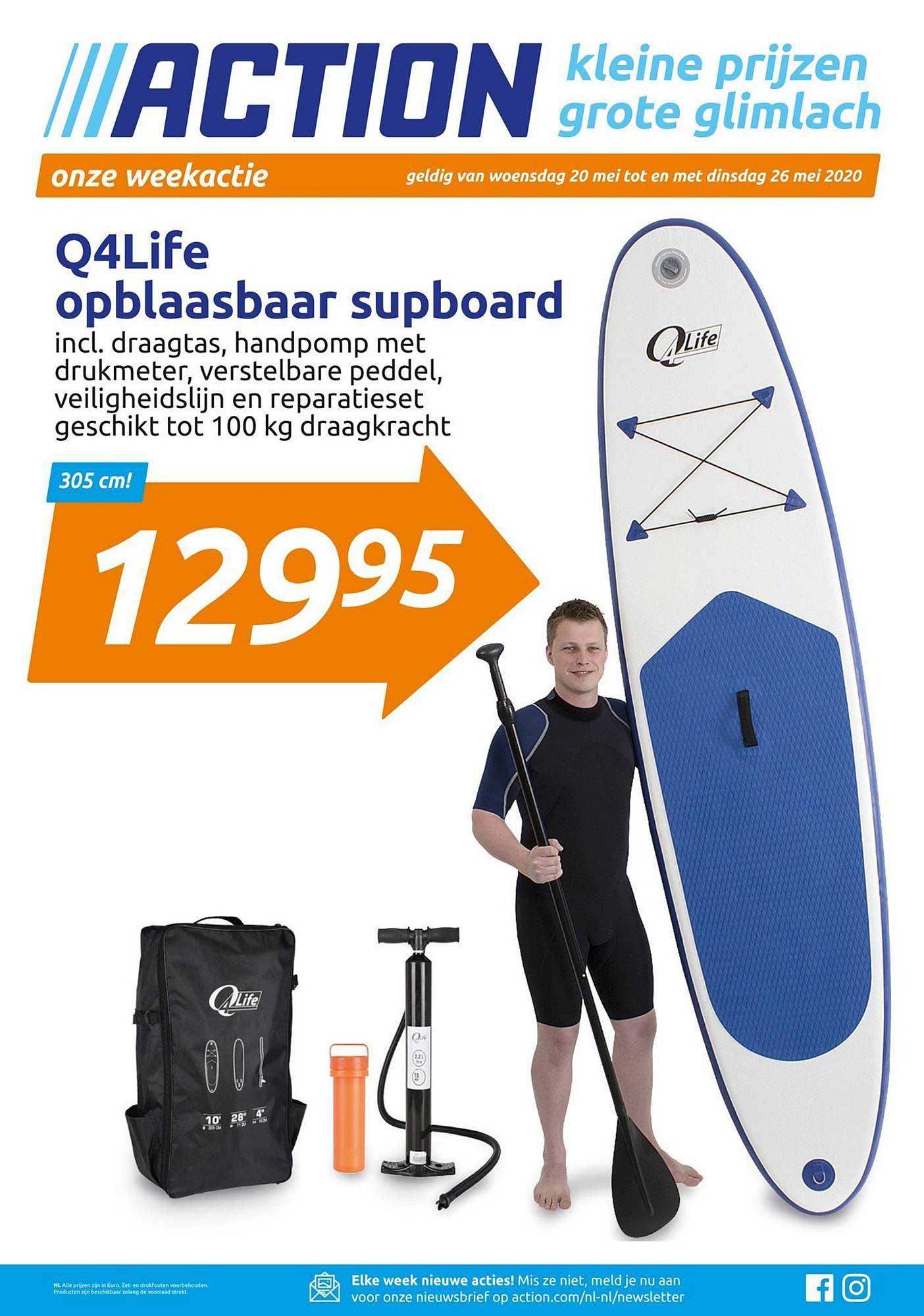 Action Q4life Opblaasbaar Supboard