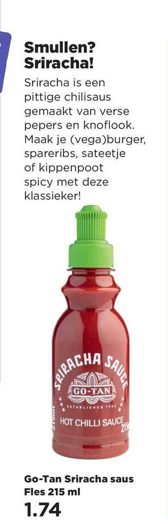 PLUS Go-Tan Sriracha Saus Fles