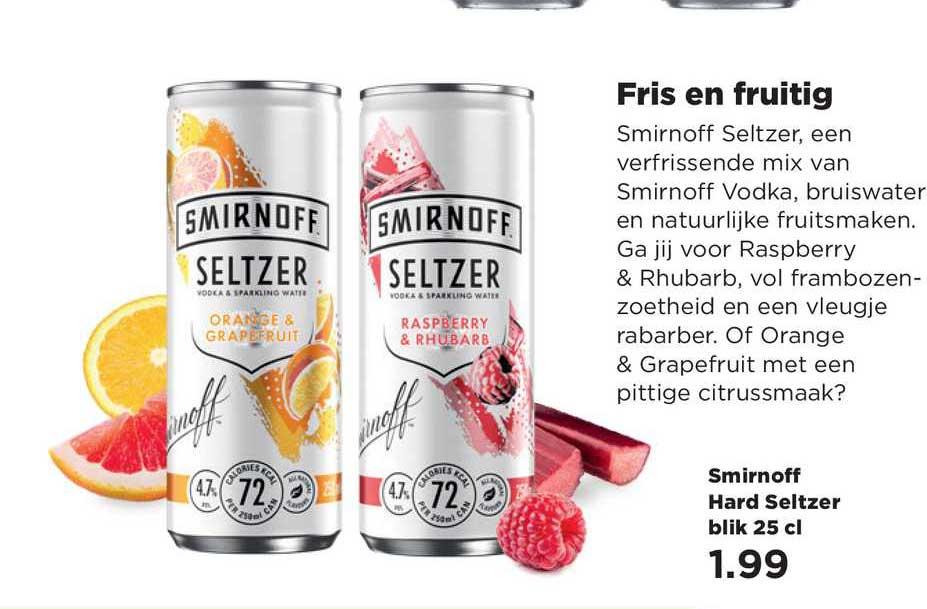 PLUS Smirnoff Hard Seltzer Blik 25 Cl