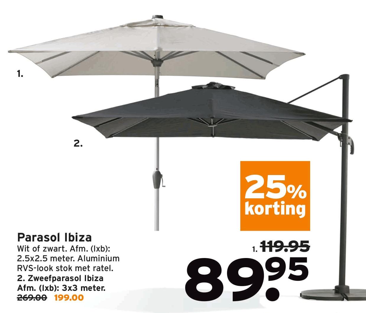 Gamma Parasol Ibiza: 25% Korting