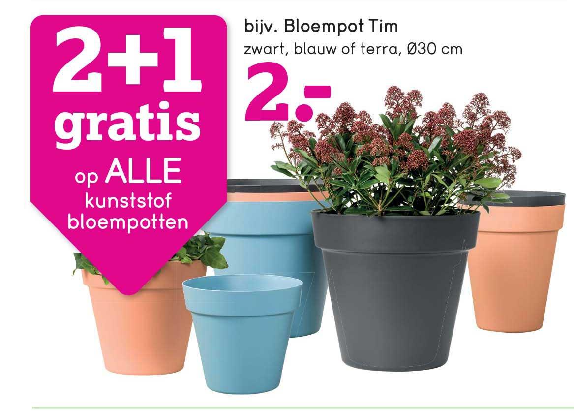 Leen Bakker 2+1 Gratis Op Alle Kunststof Bloempotten