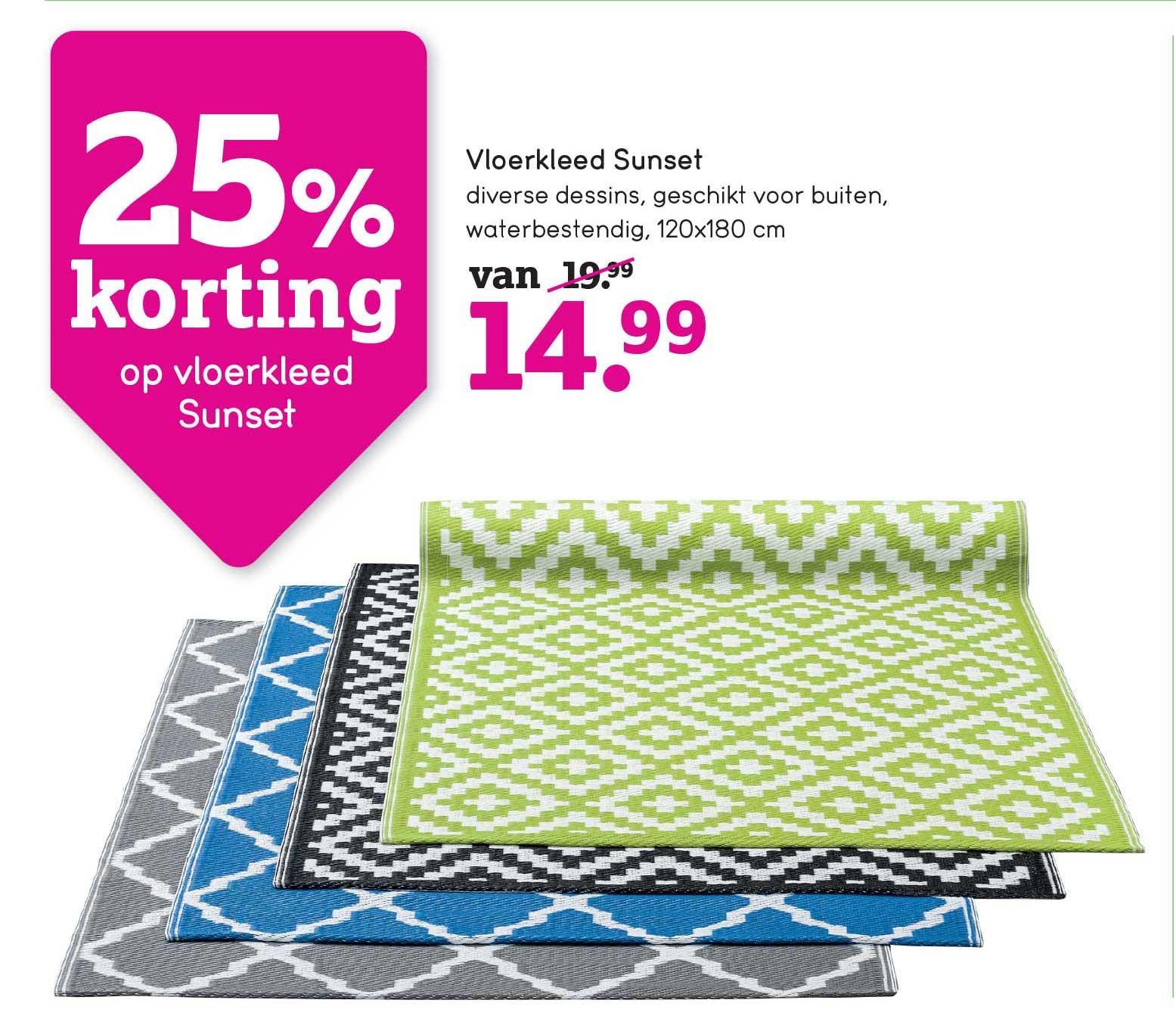 Leen Bakker 25% Korting Op Vloerkleed Sunset